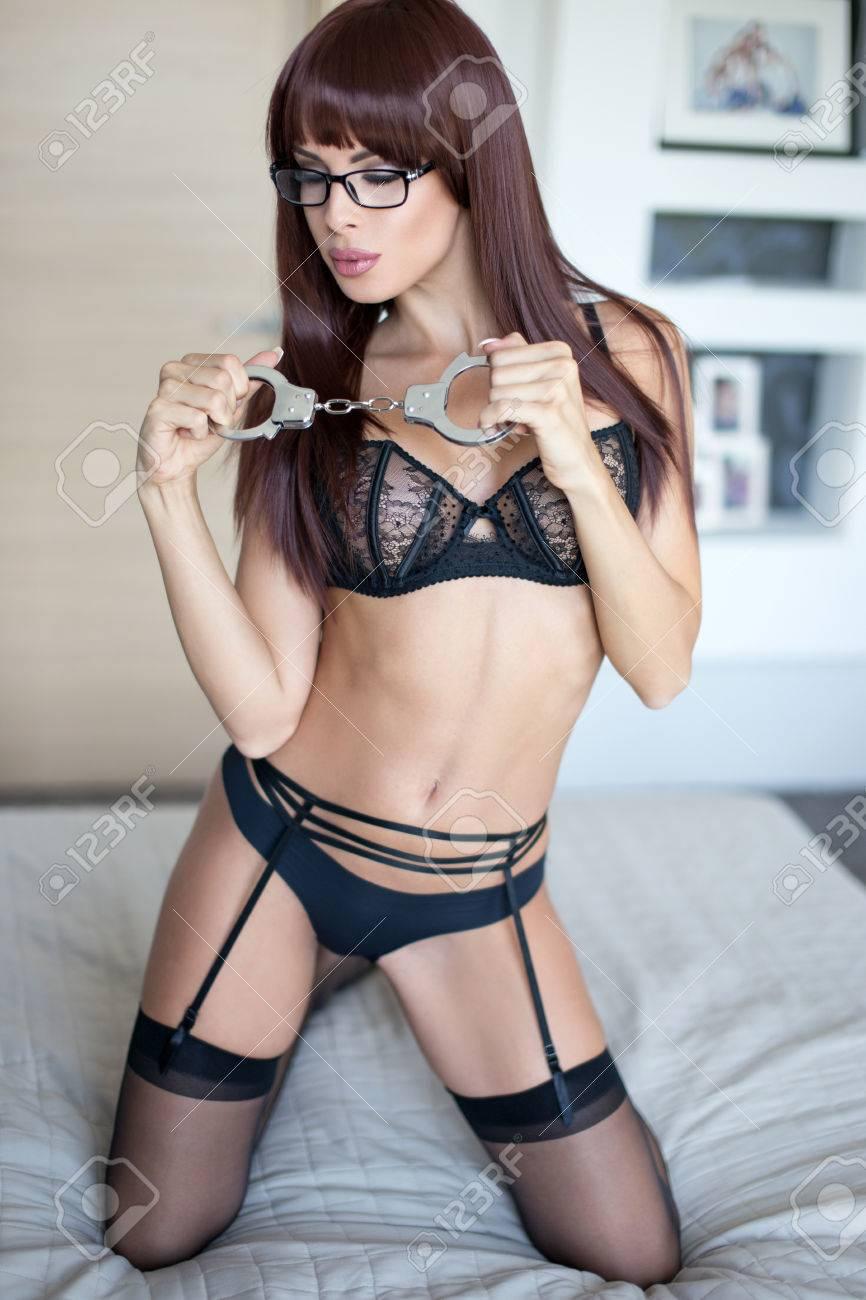 Lace Panties Cuffed Mistress Gif