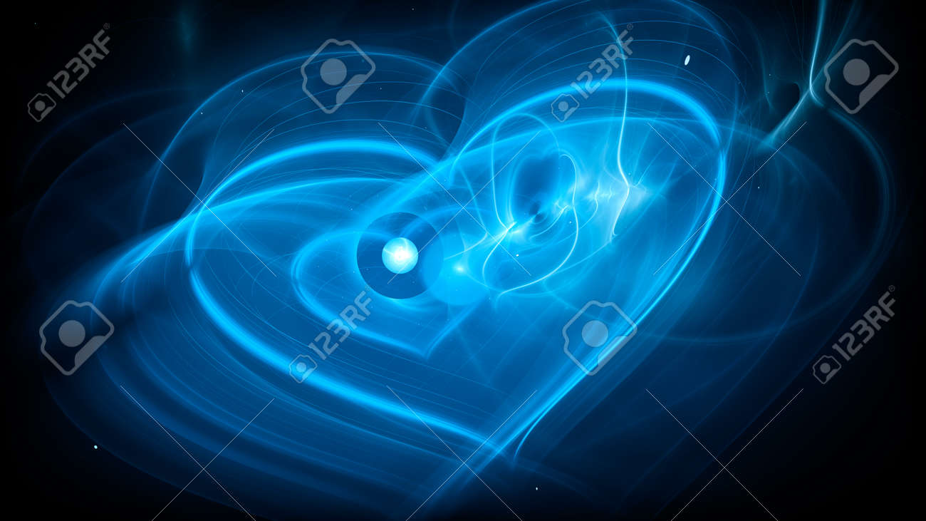 Futuristic science love concept, computer generated abstract background, 3D rendering - 172466184