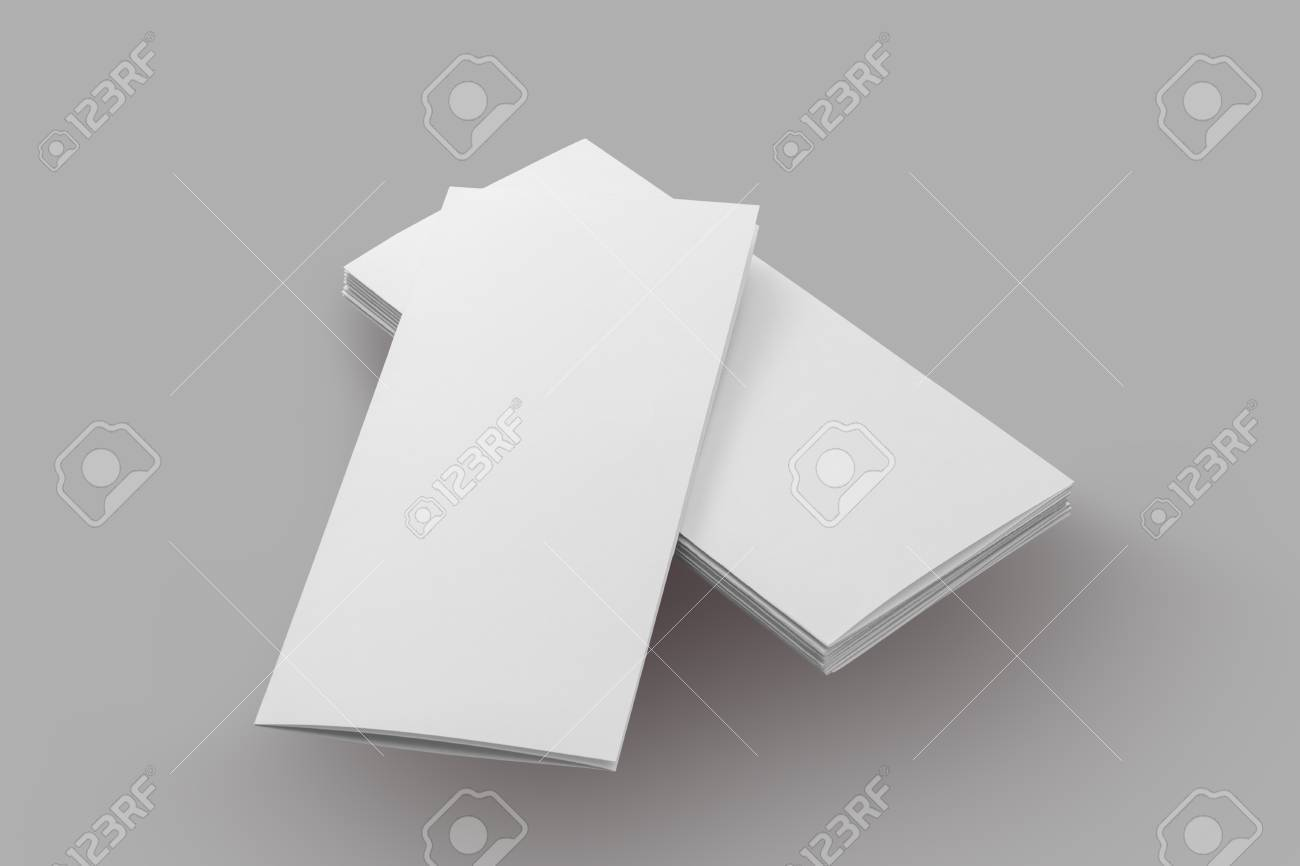 Exceptional Blank Brochure Paper Isolated On Grey Background Stock Photo   59647429  Blank Brochure