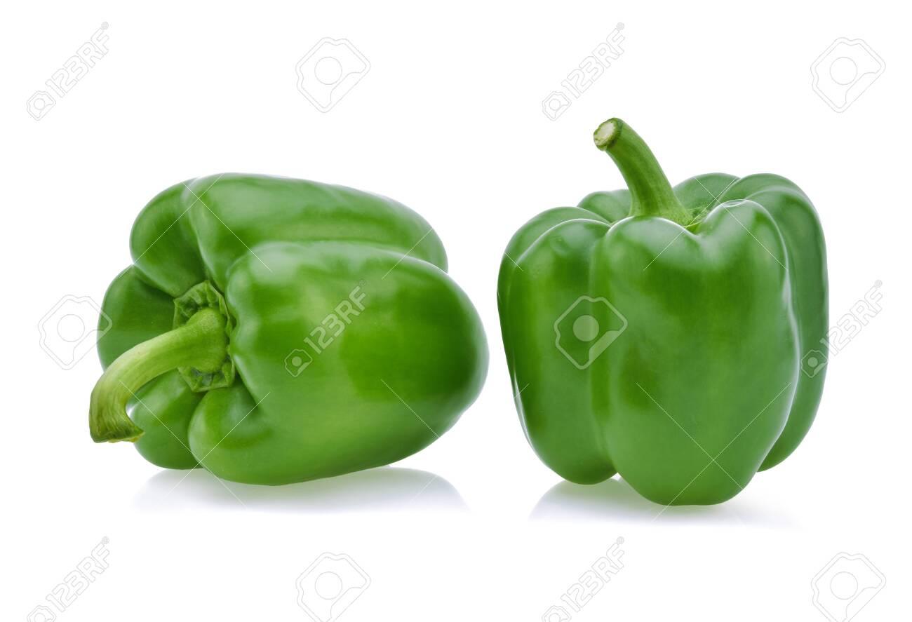 Green pepper on white background . - 145064109