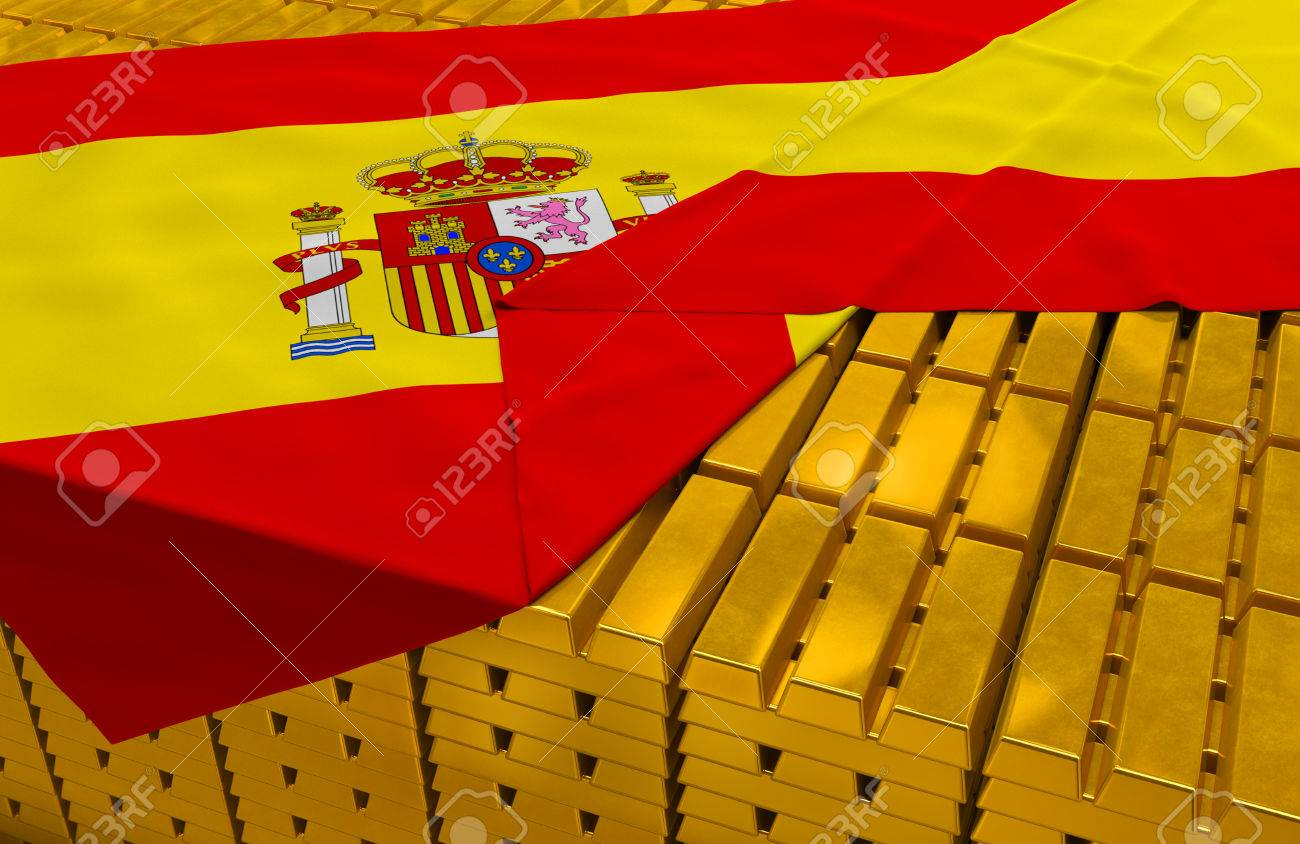 40910329-Spain-gold-reserve-stock-golden