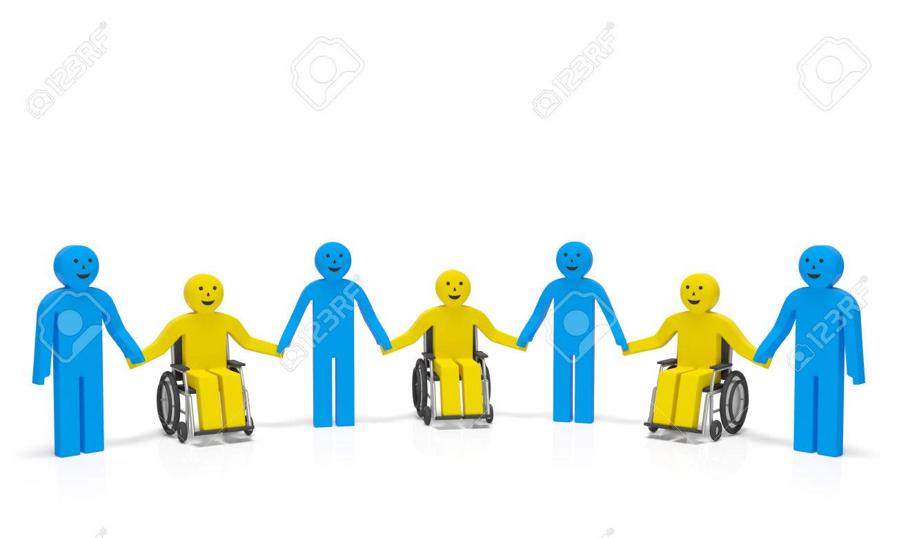 World disability day international day of disabled people world disability day international day of disabled people disabled persons in wheelchairs with healthy people biocorpaavc