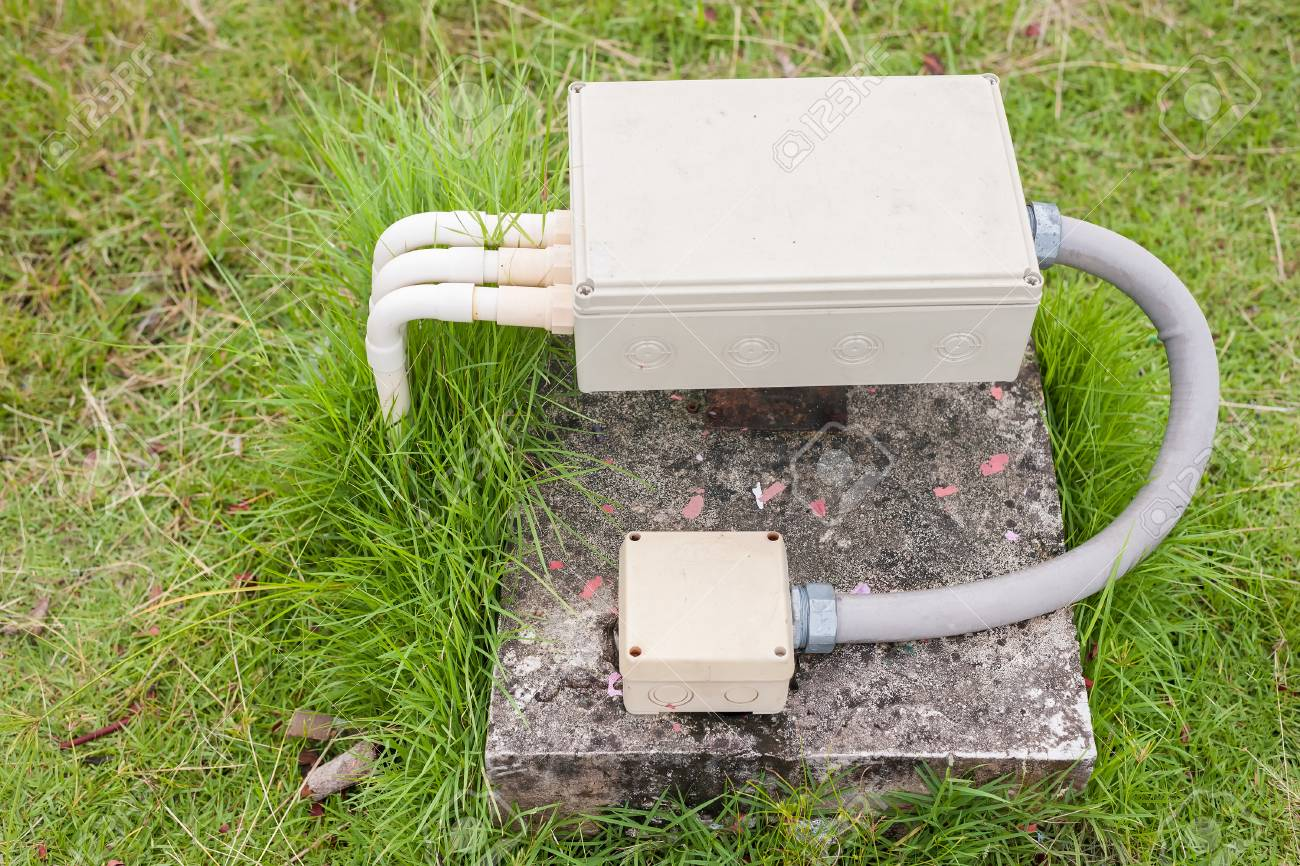 Swell Outdoor Electrical Junction Box Stock Photo Picture And Royalty Wiring Database Gramgelartorg