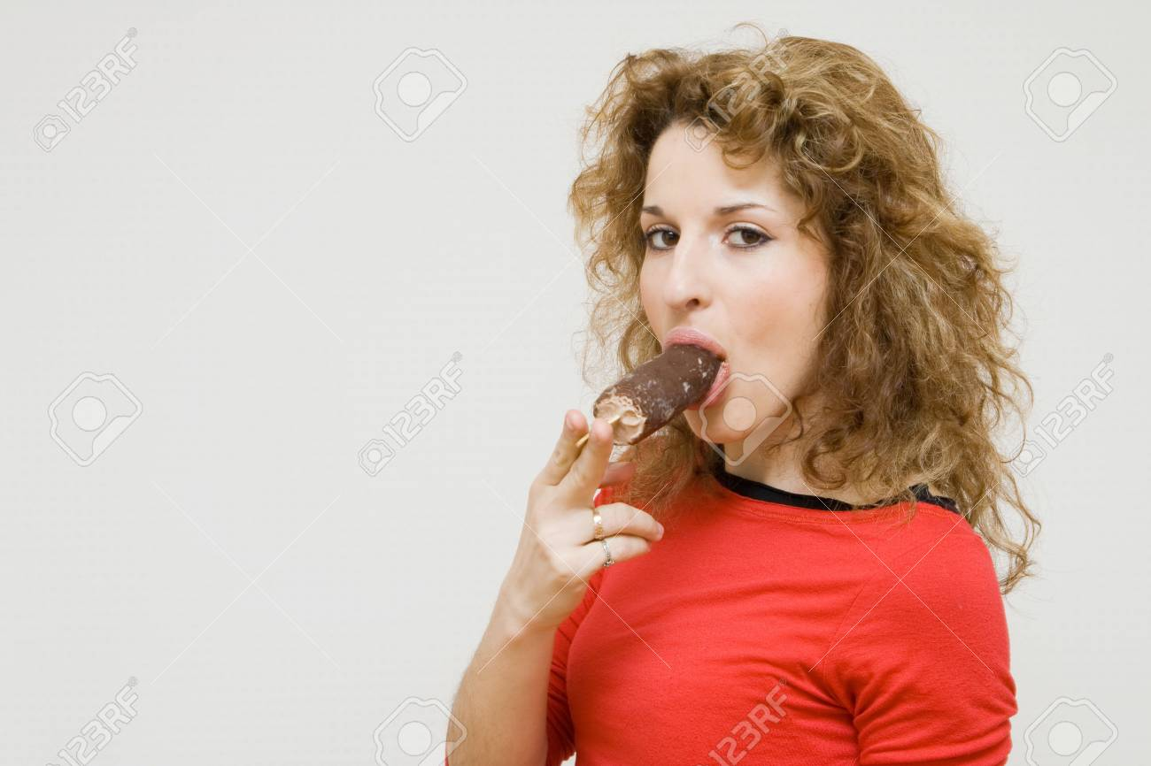 girl with icecream Stock Photo - 5102282