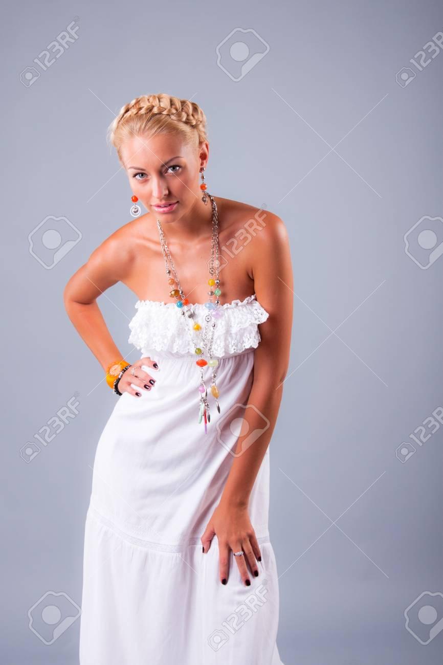 portrait of pretty model in studio Stock Photo - 12501482