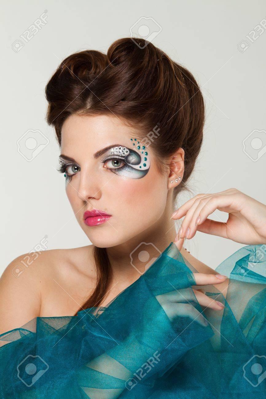 beautiful woman with creative makeup Stock Photo - 14415468