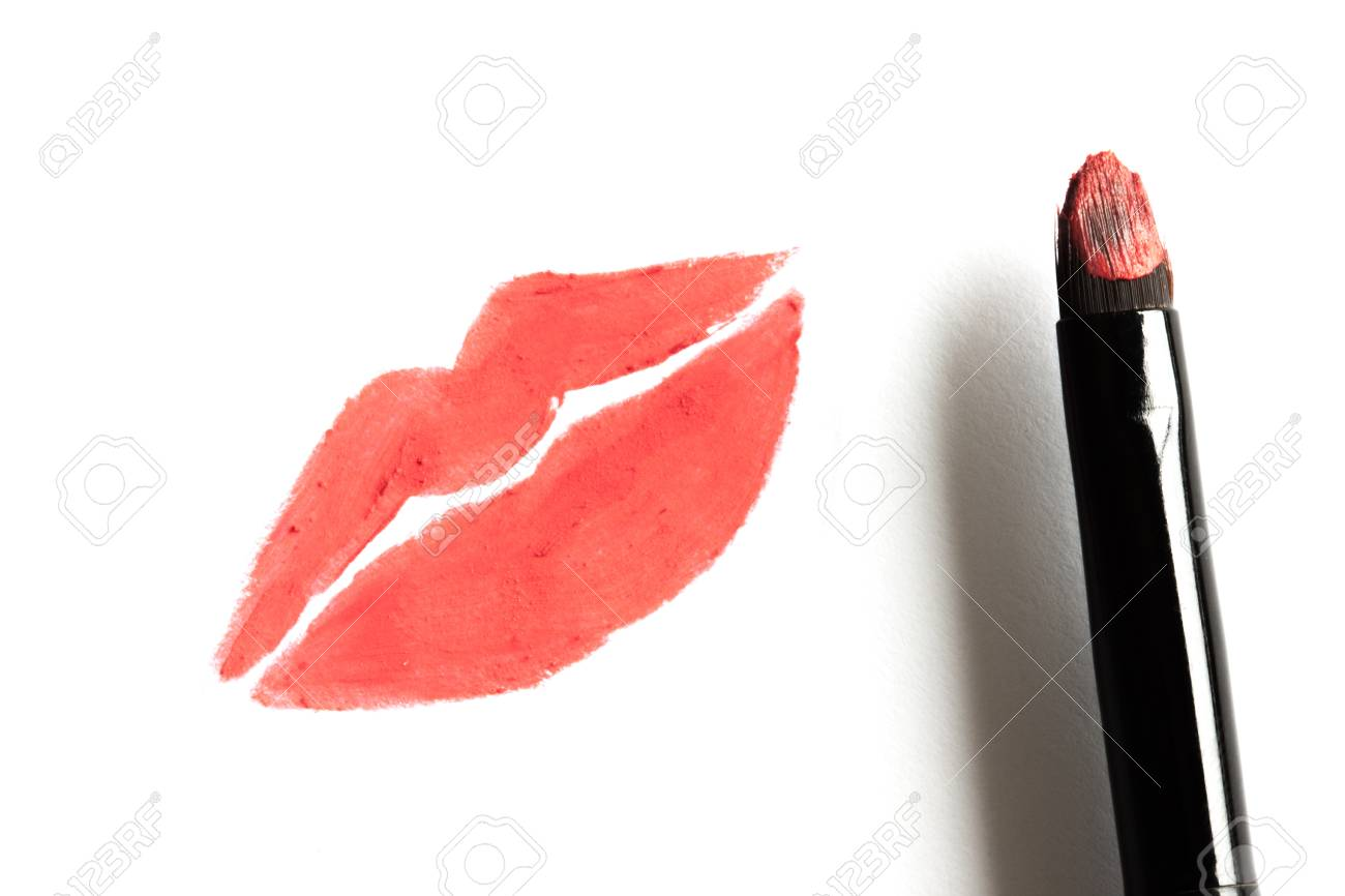 Lèvre Lèvres Par Le À De Vrai D'images Dessin Rouge Banque La DbeW2IEH9Y