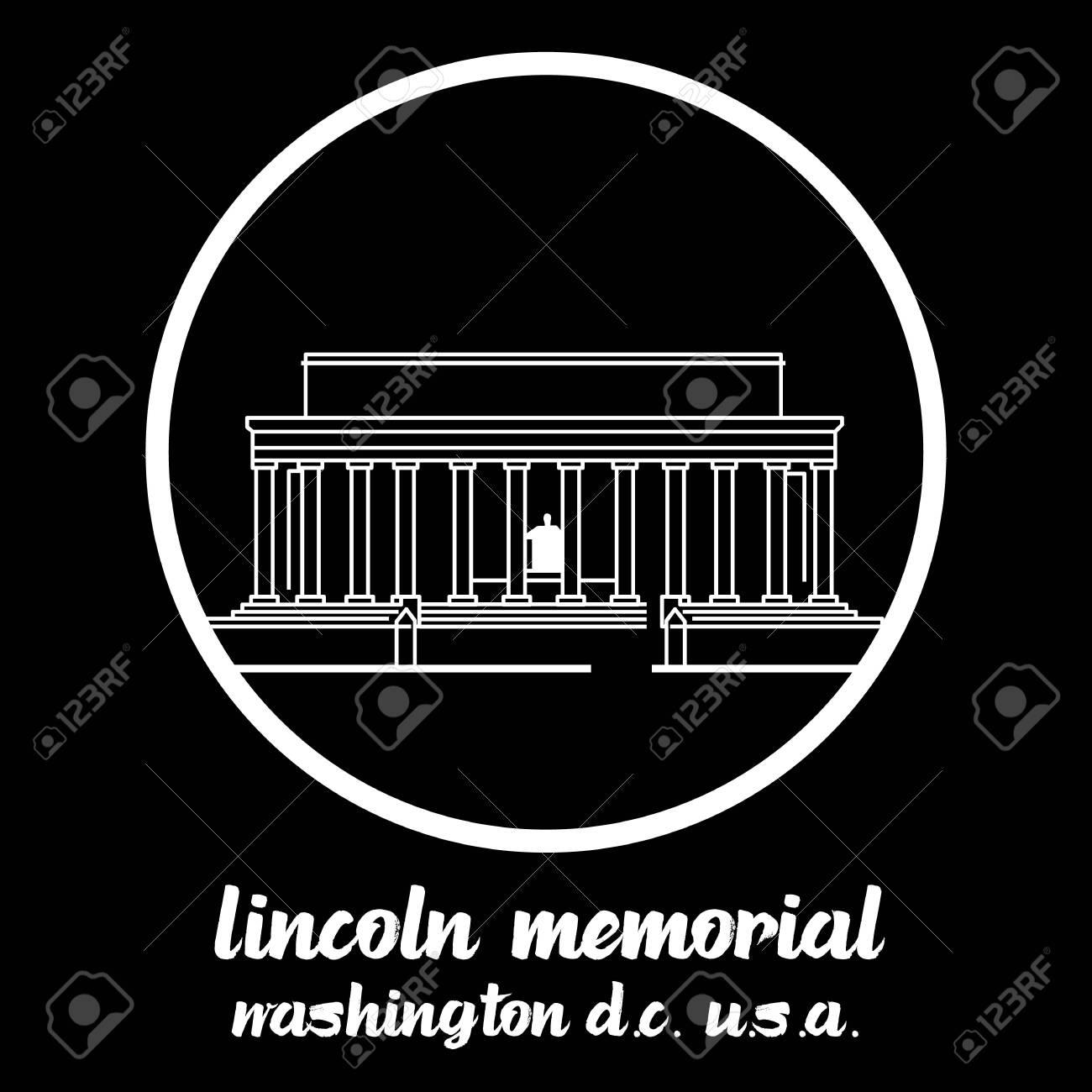 Circle Icon Lincoln Memorial. vector illustration - 133311385