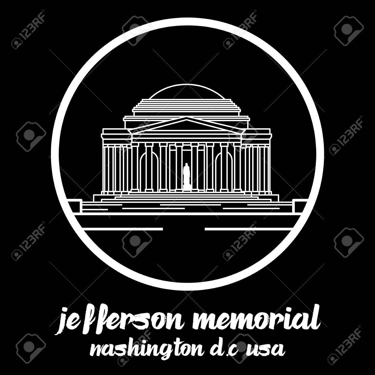 Circle Icon jefferson memorial.vector illustration - 133106660