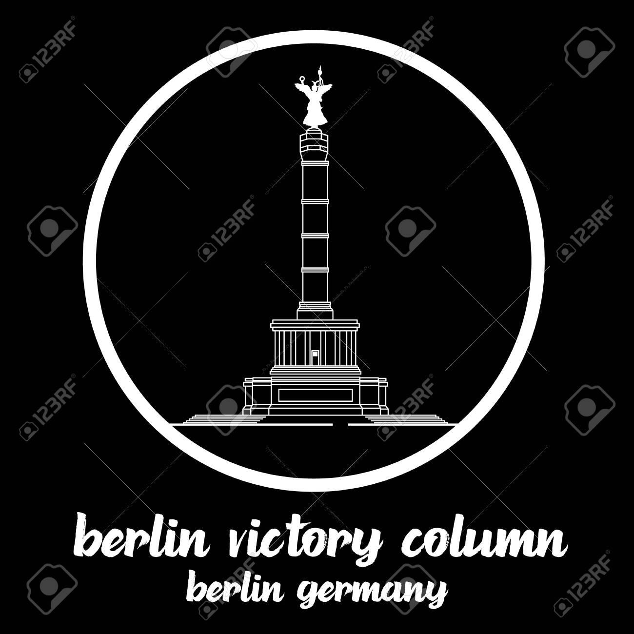 Circle Icon Berlin Victory Column. sign symbol. vector illustration - 133311947
