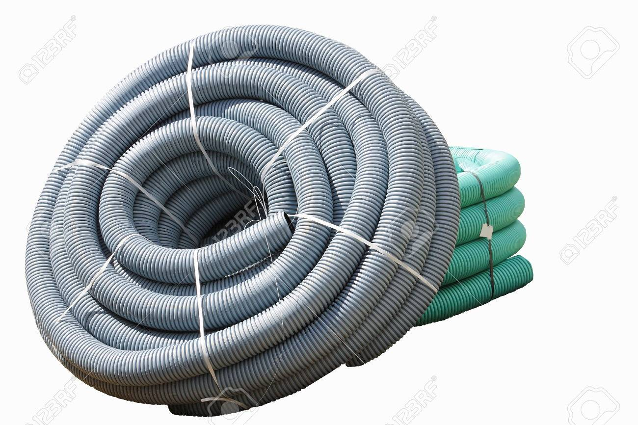 Corrugated Plastic Pipes Used For Underground Electrical Lines ...