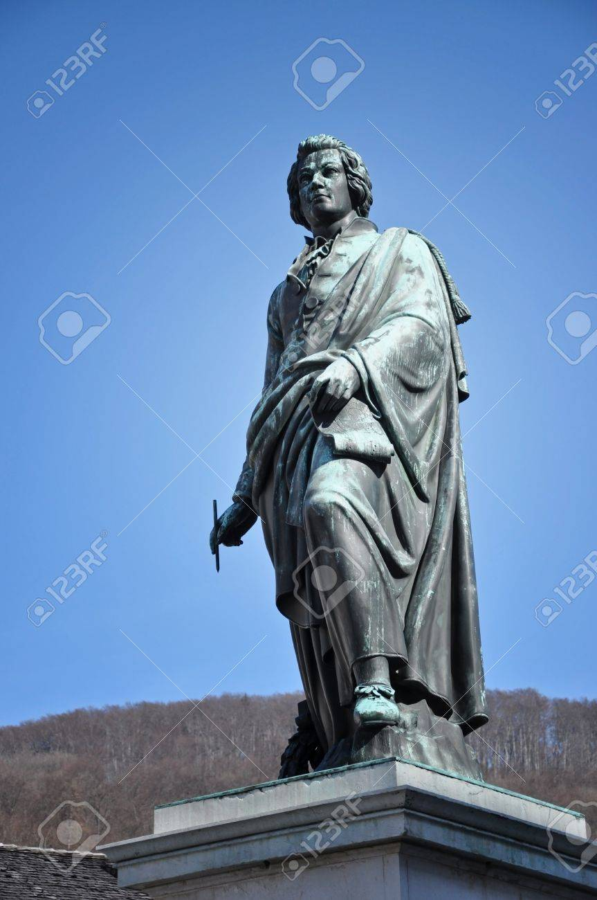The statue of Wolfgang Amadeus Mozart in Salzburg, Austria Stock Photo - 12669548