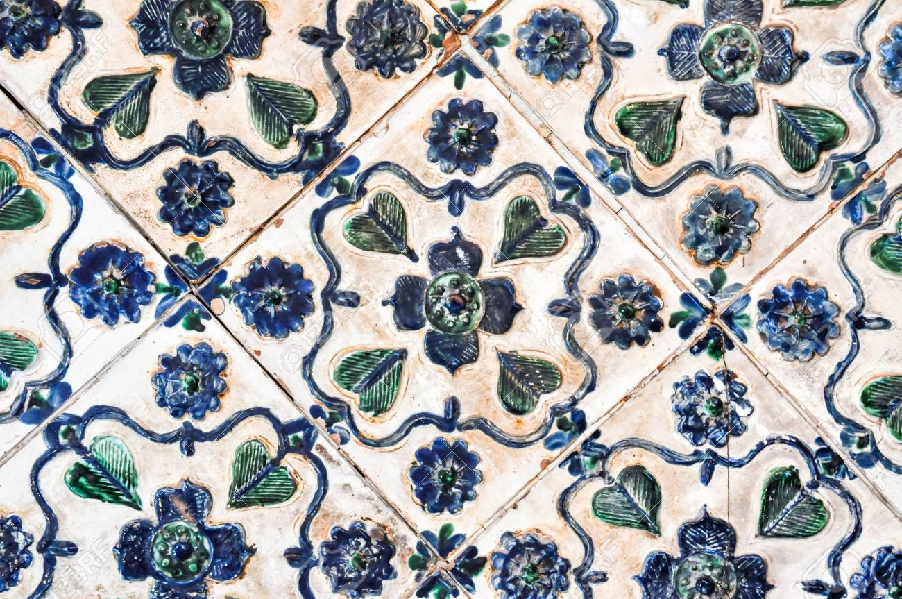 Decoration vintage stove tiles stock photo picture and royalty