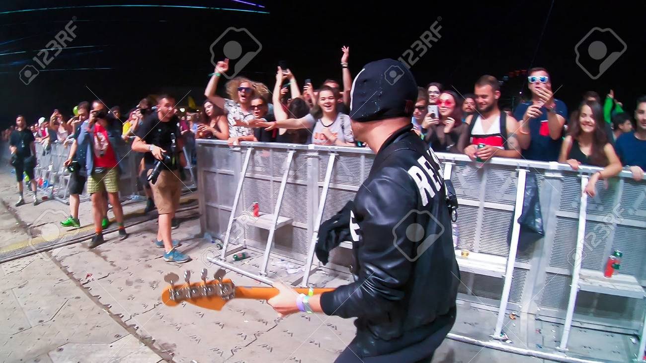 BONTIDA, ROMANIA - JULY 21, 2018: Italian electronic dance music