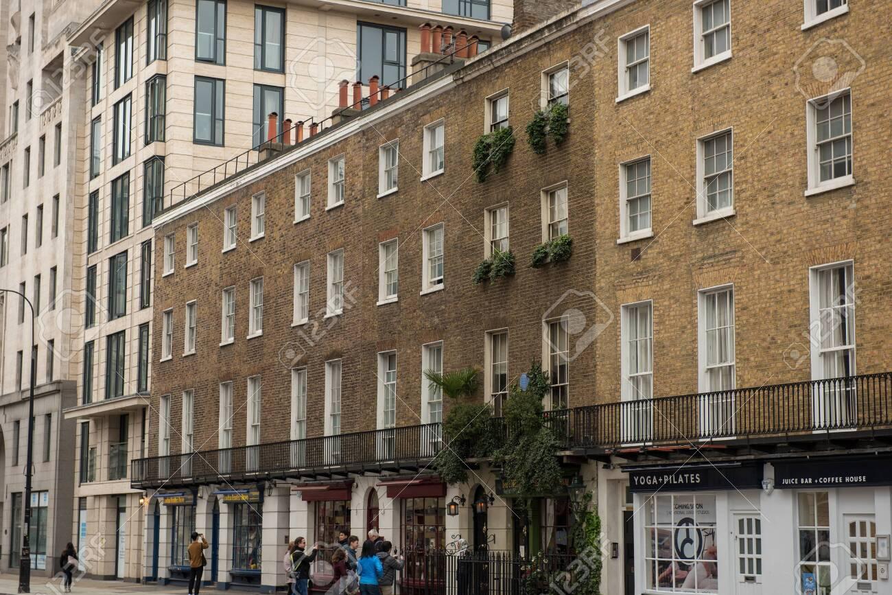 LONDON, UK - MARCH 22, 2019: 221B Baker Street is the London