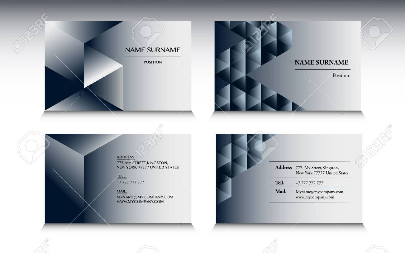set of business card template in minimalist style royalty free