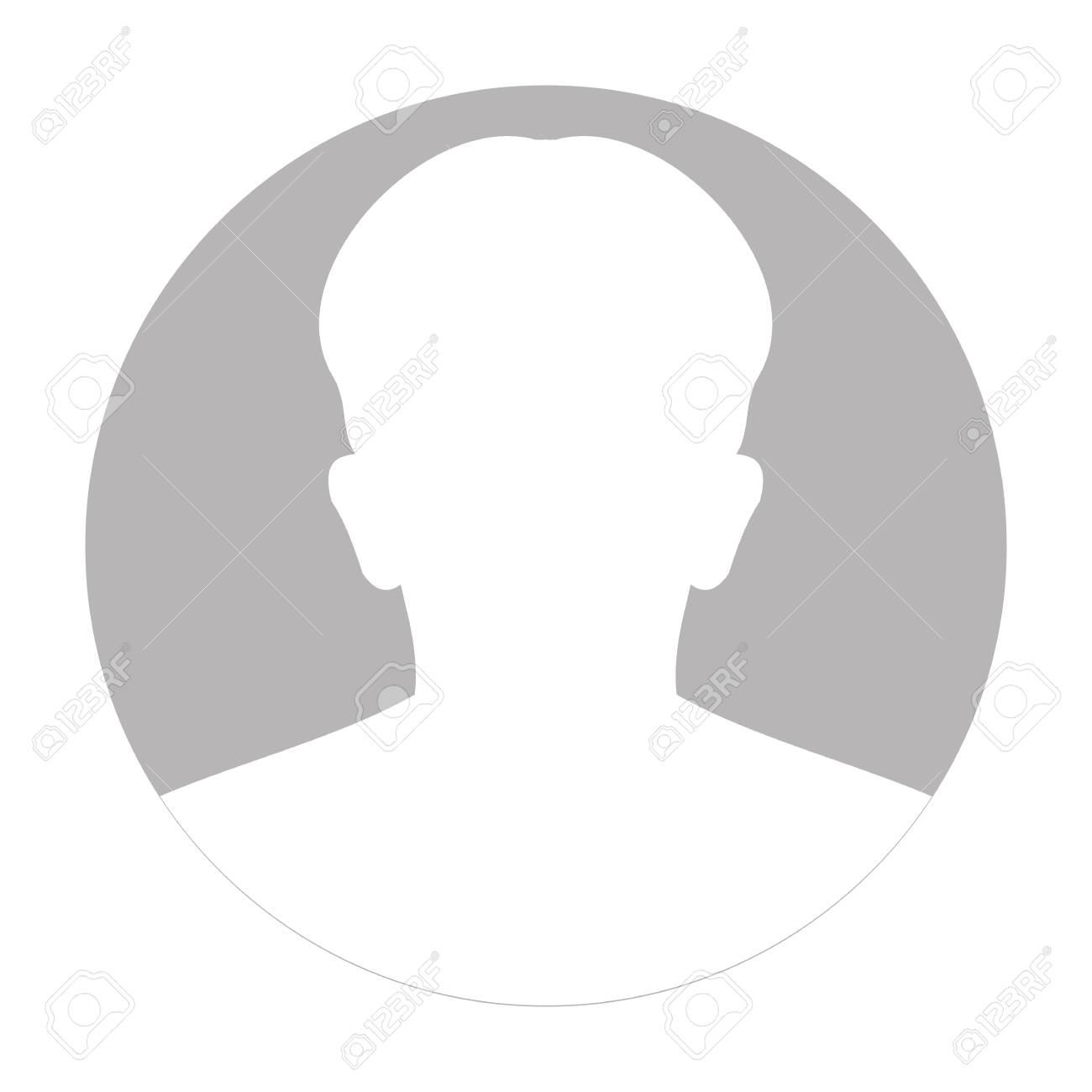 Profile anonymous face icon. Gray silhouette person. Male default avatar. Photo placeholder. Isolated on white background. Vector illustration - 92979836