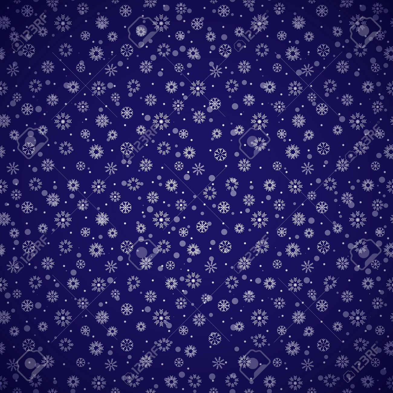 Christmas seamless pattern of snowflakes on a blue background - 159724726