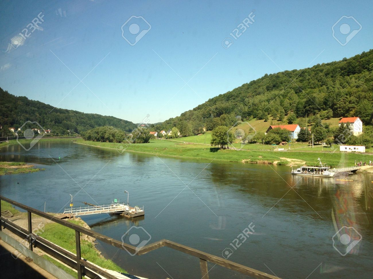 Elbe River In Border Czech Republic And Germany Europe Stock Photo - Czech river