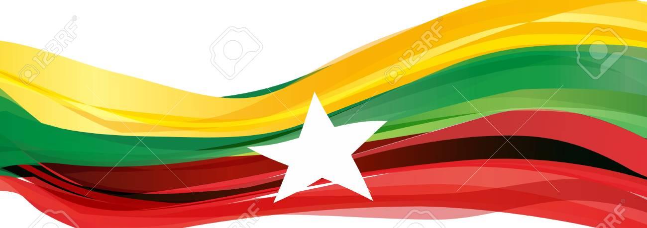 Bandera verde con estrella blanca