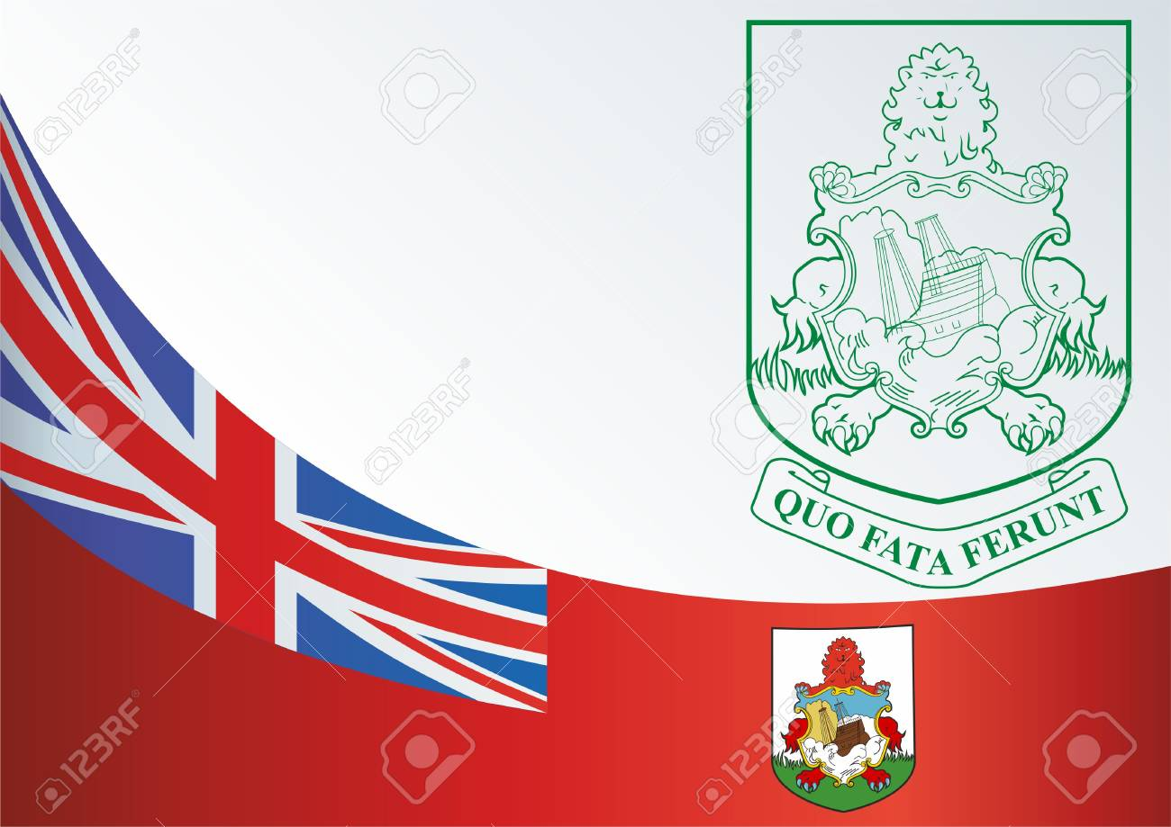 Flag Of Bermuda, The Template For The Award, An Official Document ...