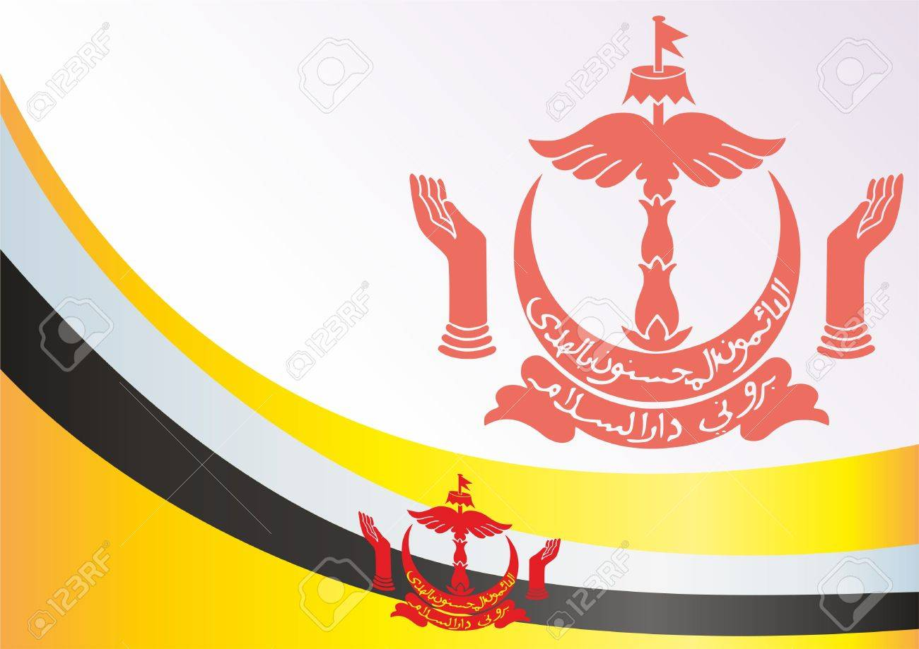 Flag Of Brunei Template For The Award An Official Document