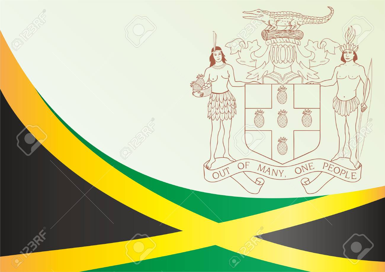 Flag Of Jamaica The Template For The Award An Official Document
