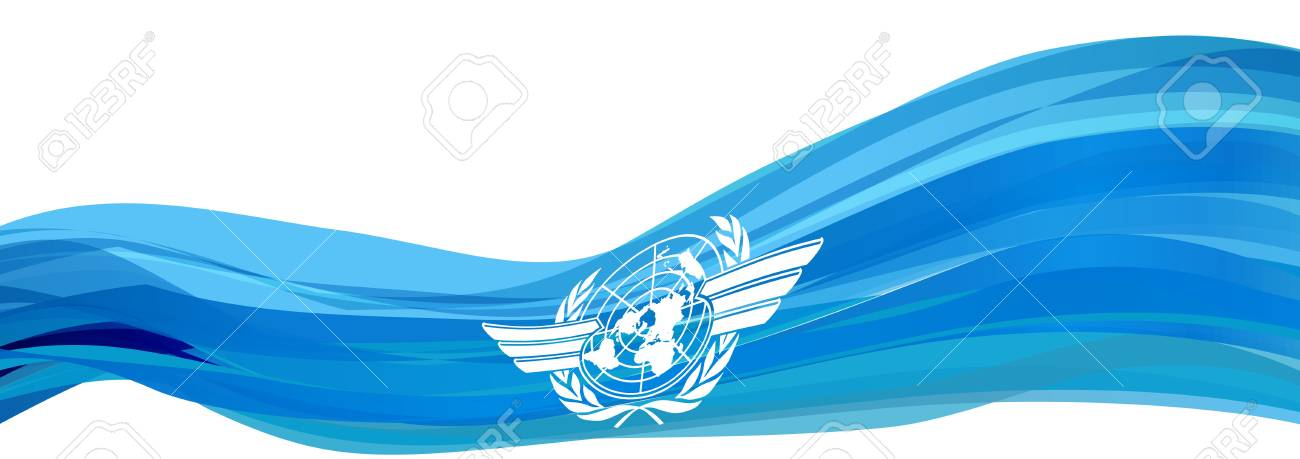 ICAO flag, light blue flag with the logo of the International