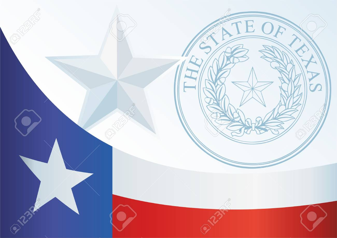 flag of the state of texas template for the award an official