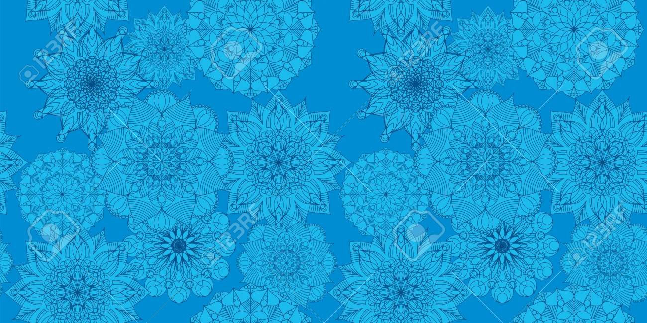 Seamless Pattern With Beautiful Graphics Flowers For Wallpapers