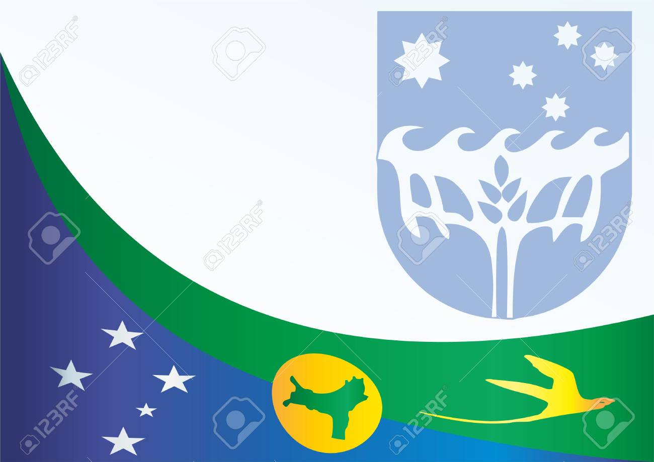 Christmas Island Flag.Flag Of Christmas Island States And Territories Of Australia