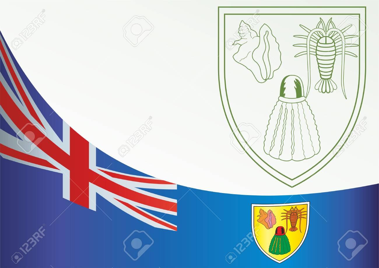 Bandera De Las Islas Turcas Y Caicos Territorios Britanicos De