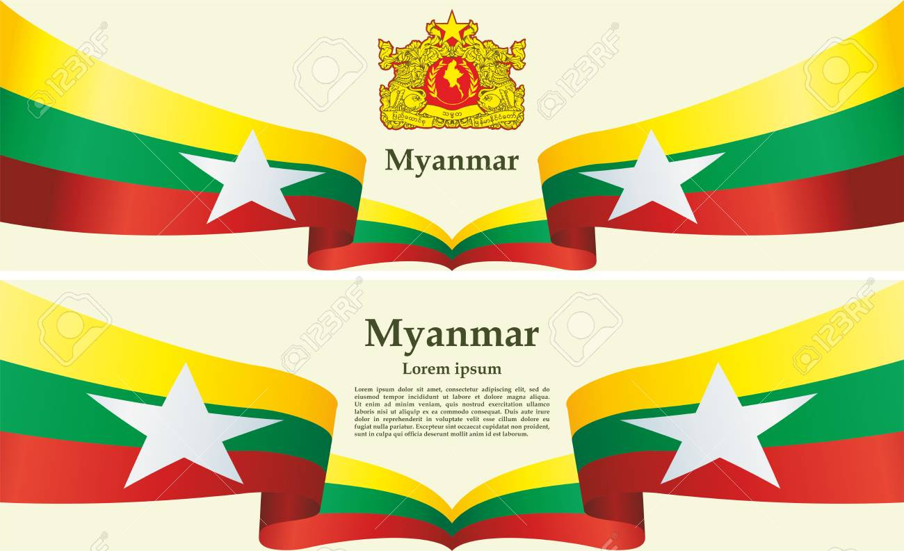 Flag of Myanmar, Republic of the Union of Myanmar  template for