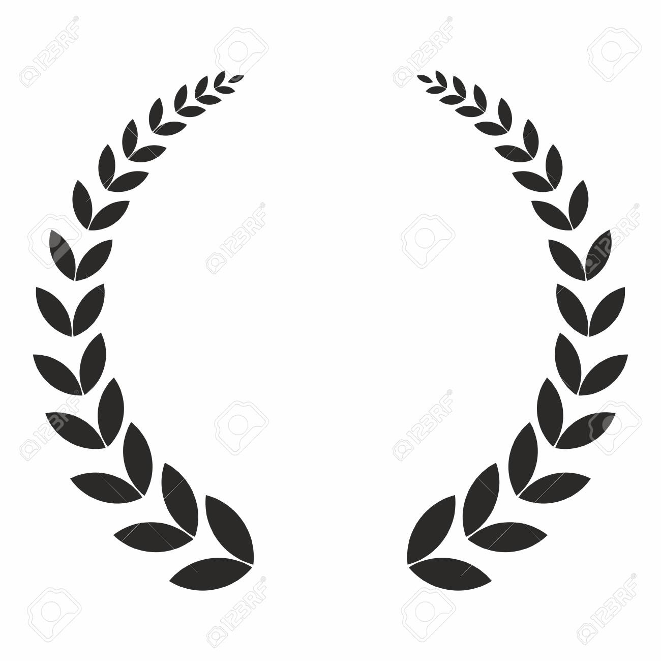 Laurel wreath, vector icon. The concept of the victories and successes. - 141537708