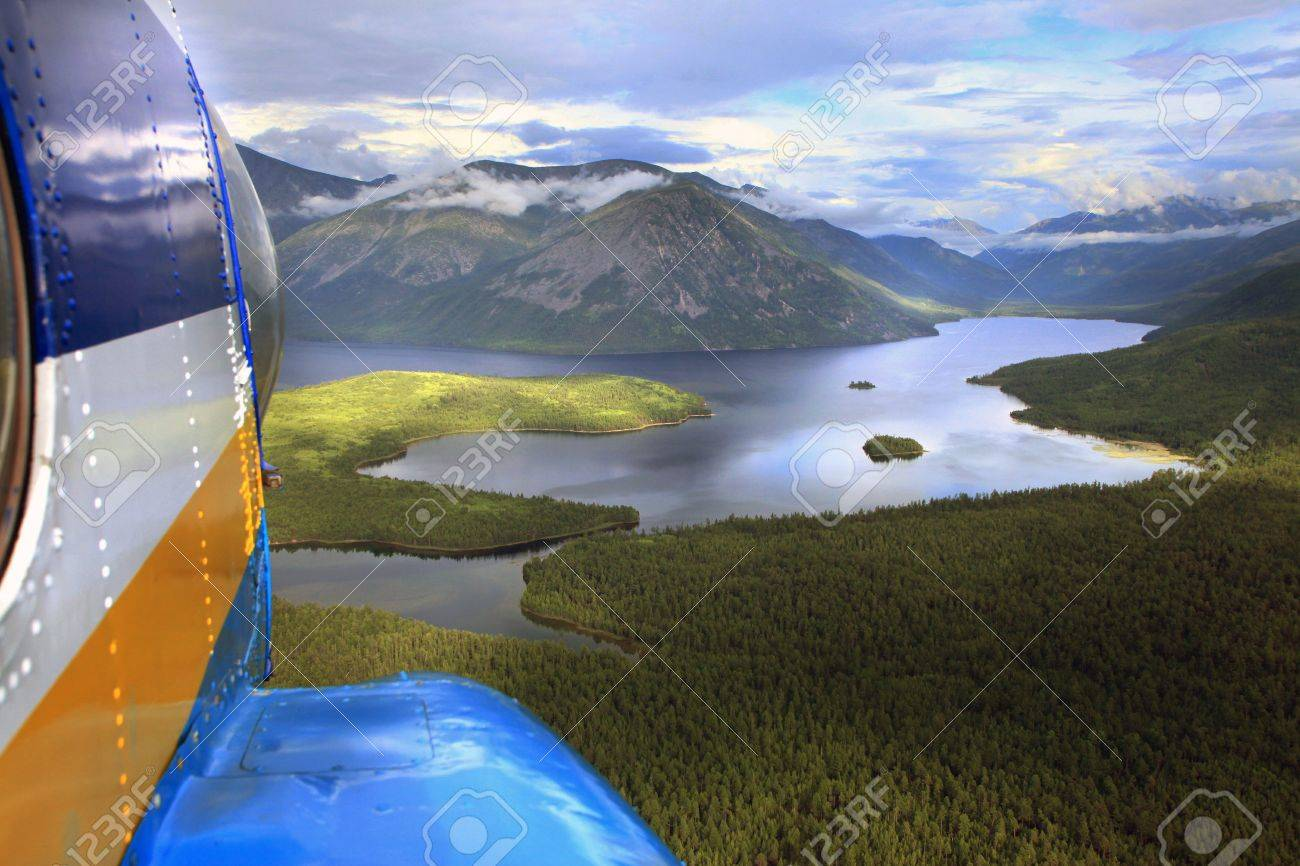 Lake Baikal, Lake Frolikha, mountains, clouds, travel, Stock Photo - 16115593