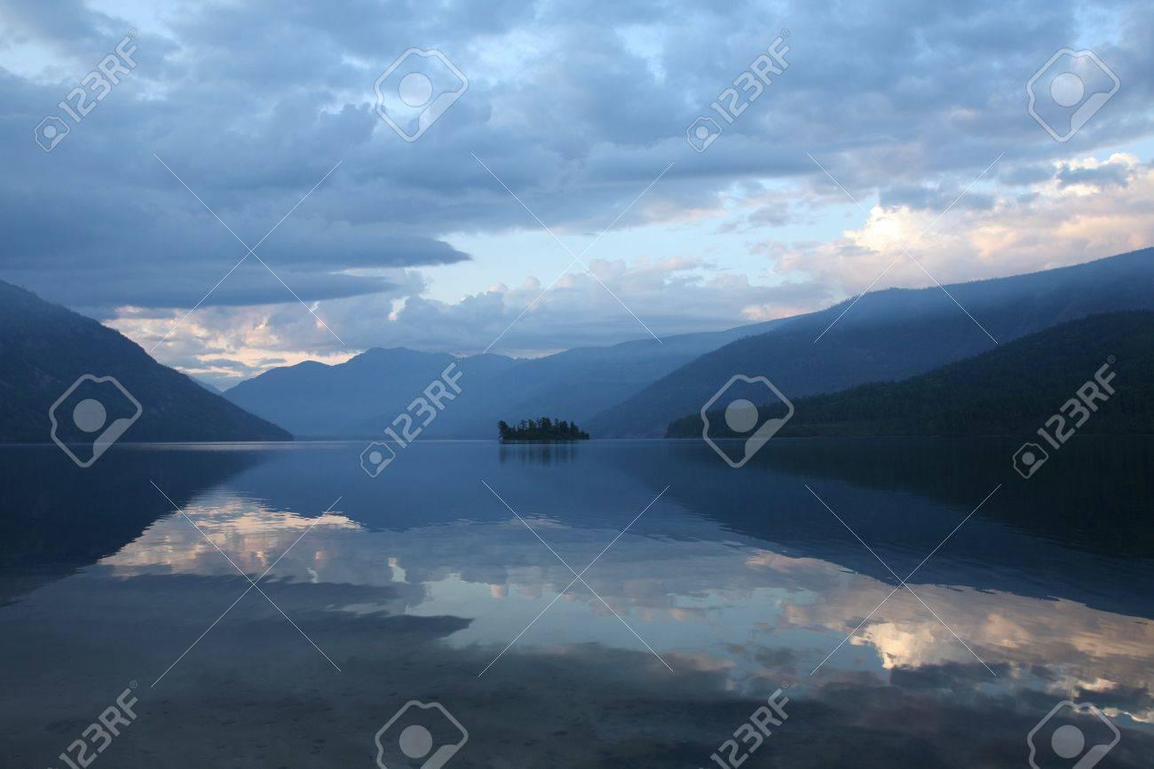 Lake Baikal, early morning before sunrise Stock Photo - 16771235