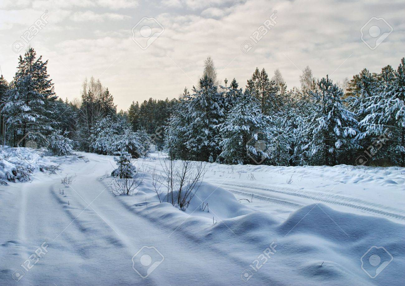 Walk through the beautiful places frosty Russian winter - 17524770