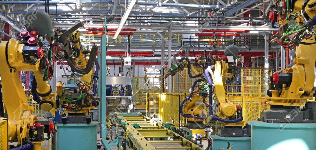 modern automated assembly line for cars - 26433957