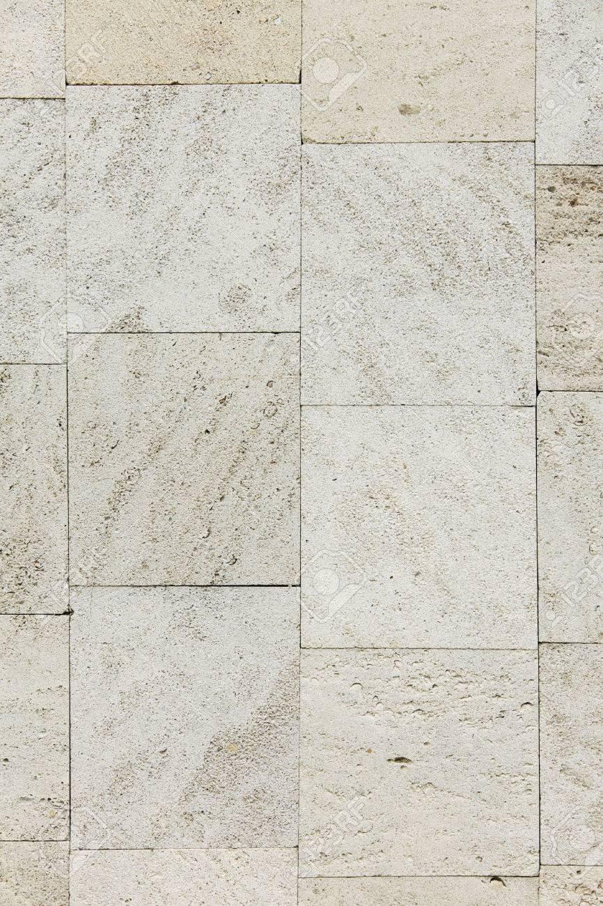 Macro Texture Veneer Of Limestone Stone Natural Light Stock Photo