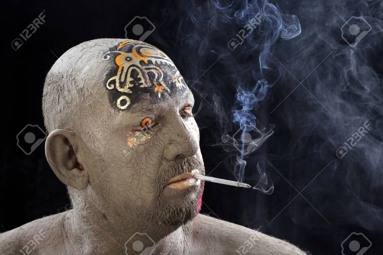 Close Up Portrait Of A Man In The Clay Body Art Studio On A Stock Photo Picture And Royalty Free Image Image 97217443