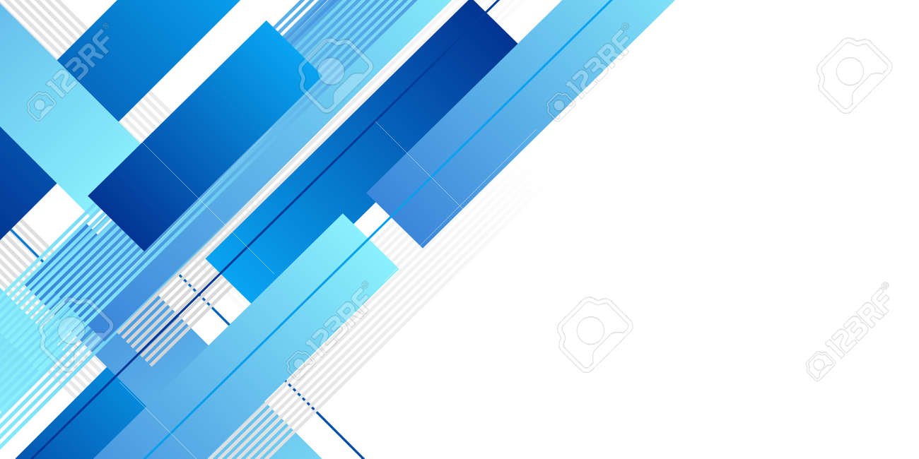 Abstract minimal blue background with geometric creative and minimal gradient concepts, for posters, banners, landing page concept image - 158597269