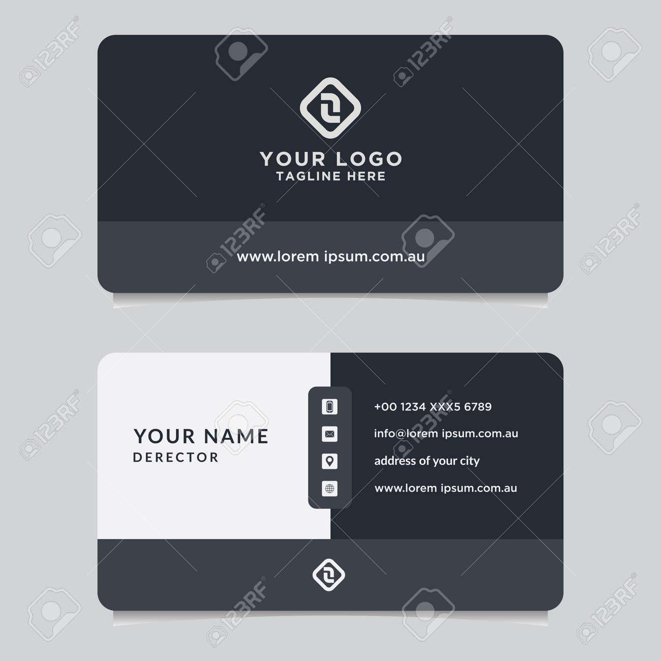 Abstract business card template. Modern vector design - 159886591