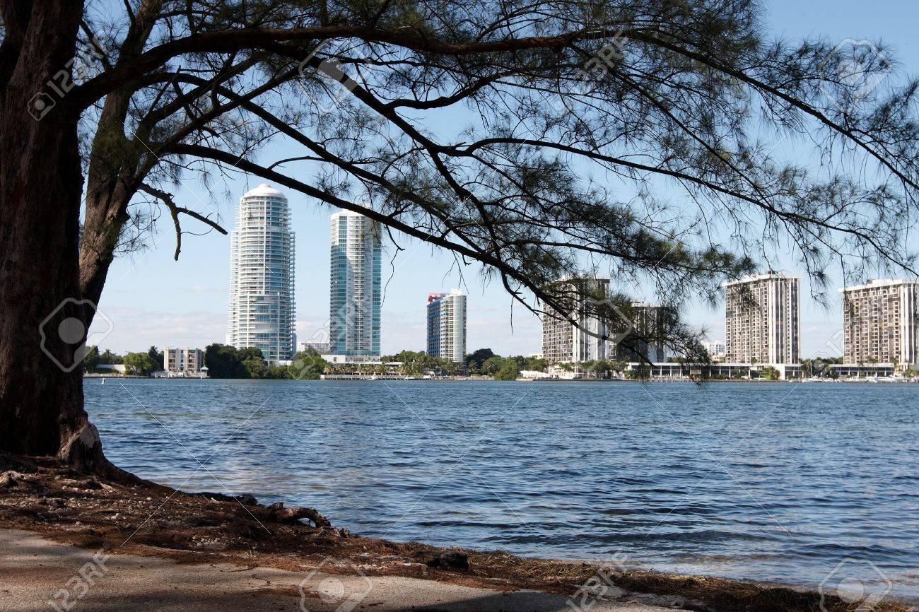 Sky scraper buildings near the ocean in Florida Stock Photo - 12175910