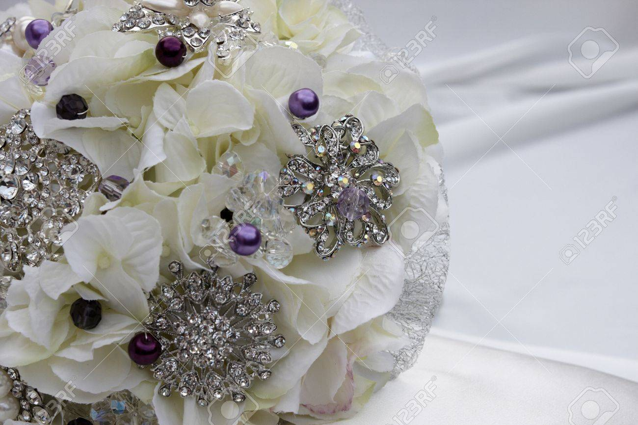 A Home Made Bridal Brooch Bouquet Stock Photo Picture And Royalty