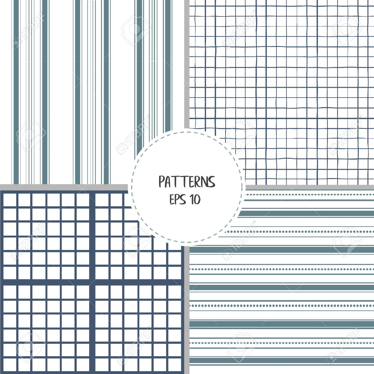 Set Of Checkered Farmhouse Style Seamless Patterns For Kitchenware Royalty Free Cliparts Vectors And Stock Illustration Image 142660857