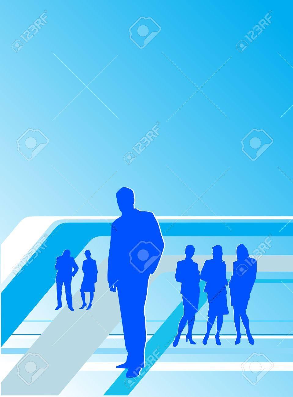 Illustration of team work. Busines people: profit, product, team. Stock Vector - 8687884