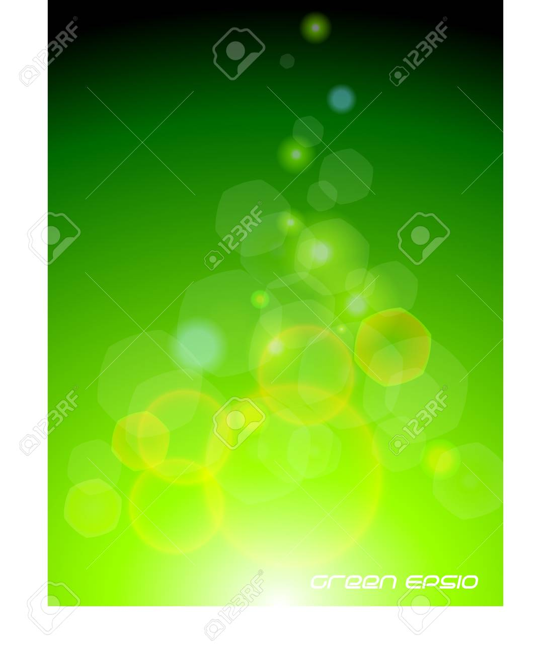 Green bokeh light background Stock Photo - 18419490