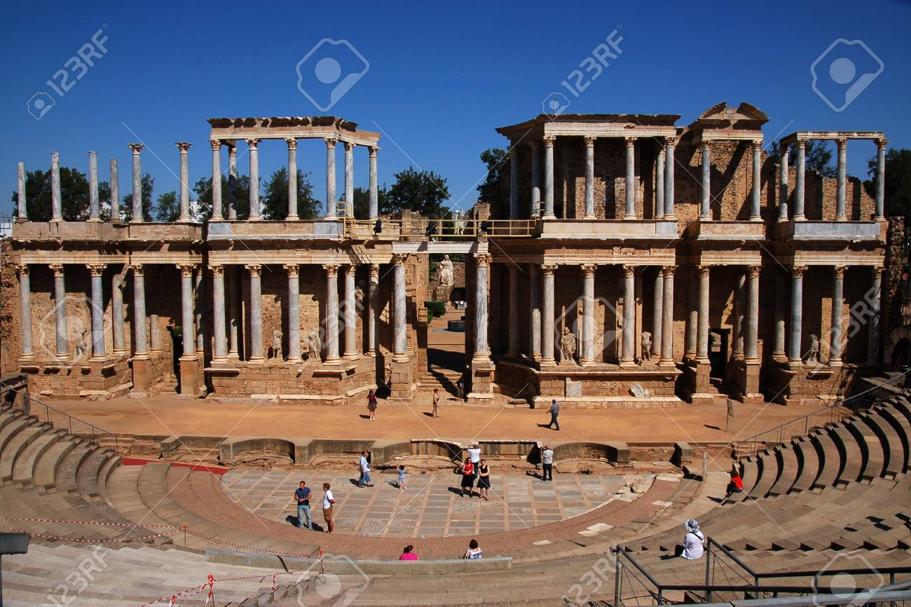 Overview of the Roman theater Stock Photo - 10813276
