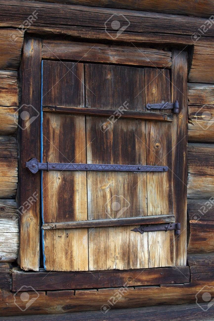 Museum Of Wooden Architecture Wooden Shutter With Wrought Iron
