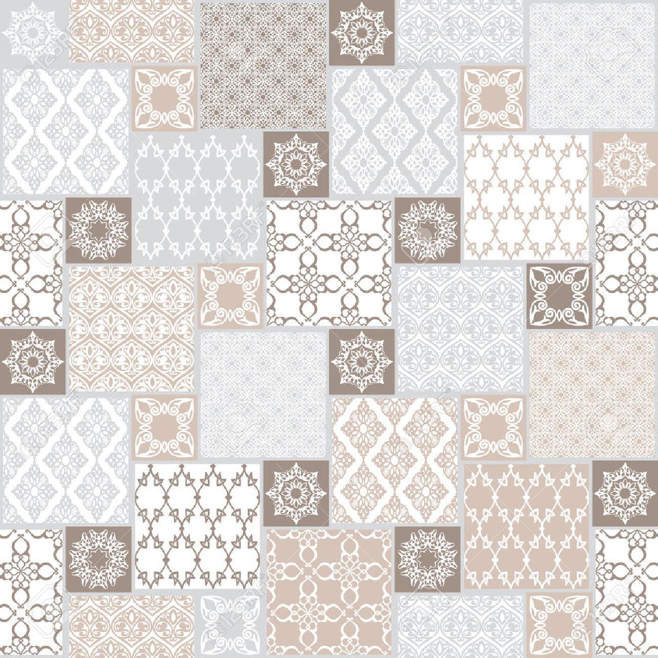 Transparente Avec Motif Oriental Pastel Fond De Patchwork Ensemble